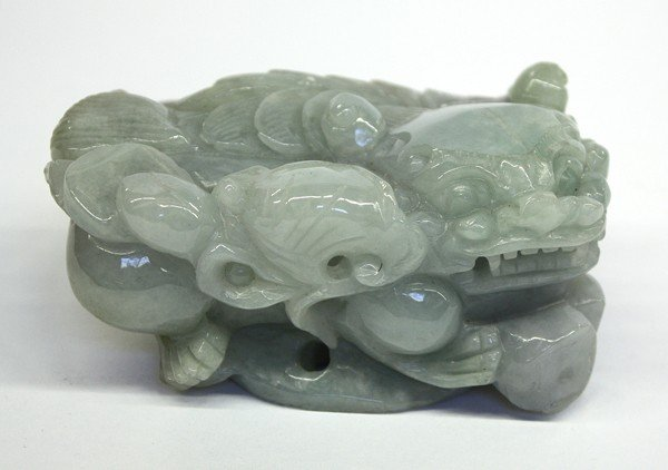 4018: Chinese Carved Jade Fu-lion