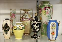 4236: Nippon and Noritake vases