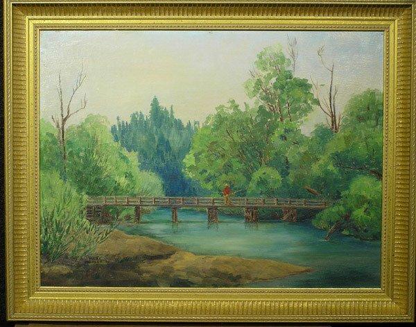 1: Framed oil, Fishing, Mark Mohler