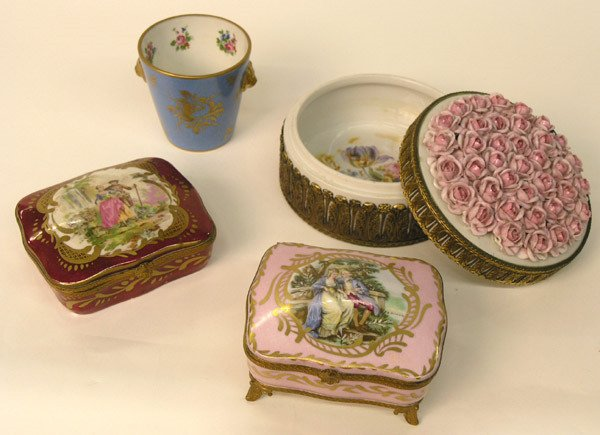 24: Sevres Style Ceramic Boxes