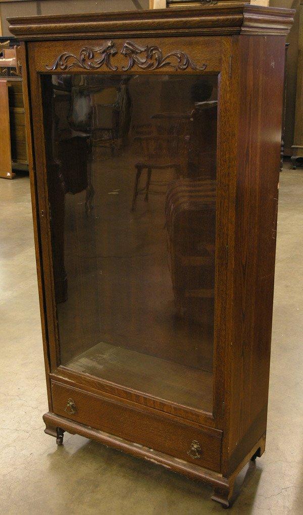 119: American oak bookcase
