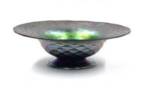 2003: Iridescent art glass compote