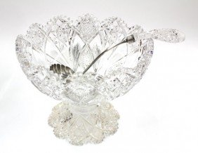 Brilliant Cut Glass Punch Bowl