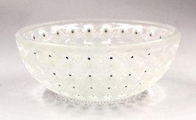 2007: Lalique 'Nemours' crystal bowl