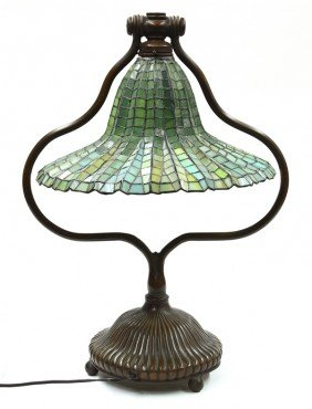 2014: Leaded glass table lamp