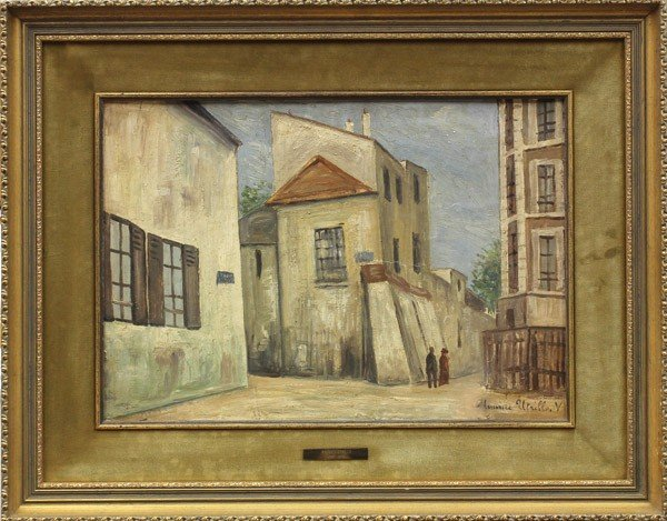 2112: Painting, manner of Maurice Utrillo
