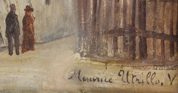 2112: Painting, manner of Maurice Utrillo - 2
