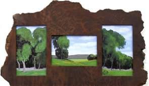 2165: Set of 3 paintings, Jesse Rasberry