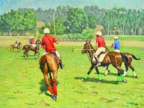 2173: Painting, Tim Solliday, Polo Match