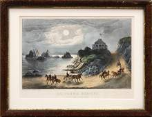 2216: Lithograph, Currier and Ives, Point Lobos