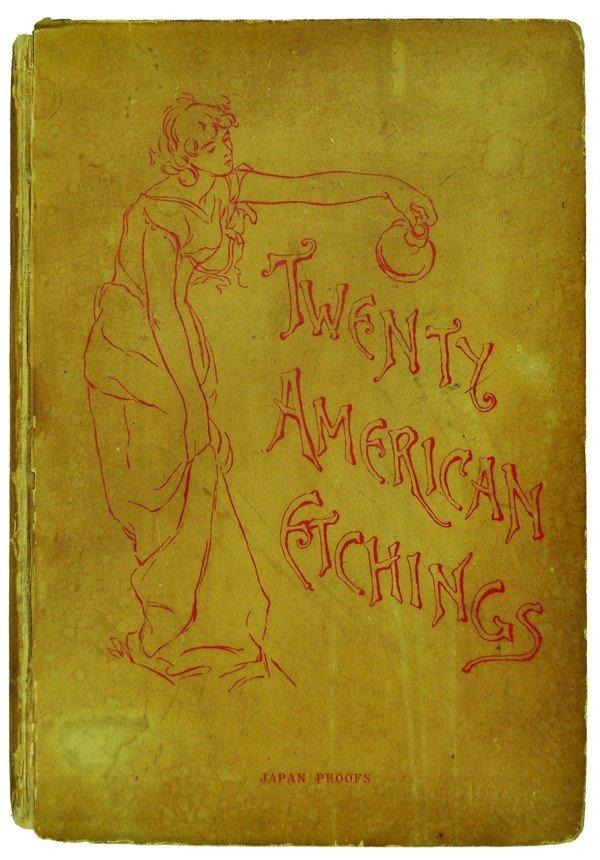 2273A: Book, Twenty American Etchings, Japan paper