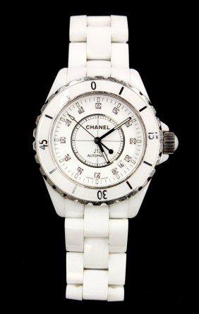 2480: CHANEL diamond J12 automatic wristwatch