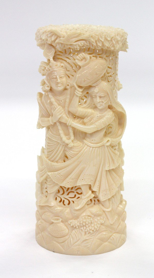 3: East Indian Recticulated Ivory Carving