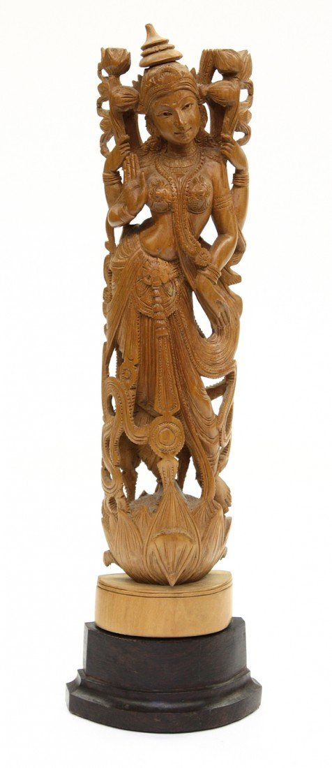 4: East Indian Wood Female Deity