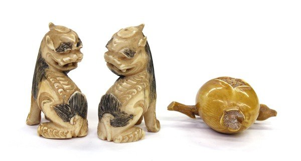 9: Three Japanese Ivory Carvings