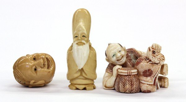 12: Three Ivory Figural Carvings