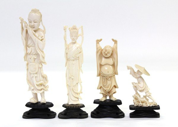 13: Assortment of Chinese Ivory Carvings