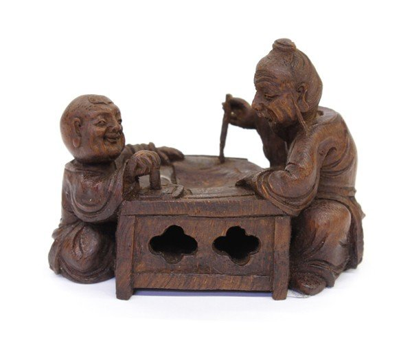 15: Chinese Figural Bamboo Carving
