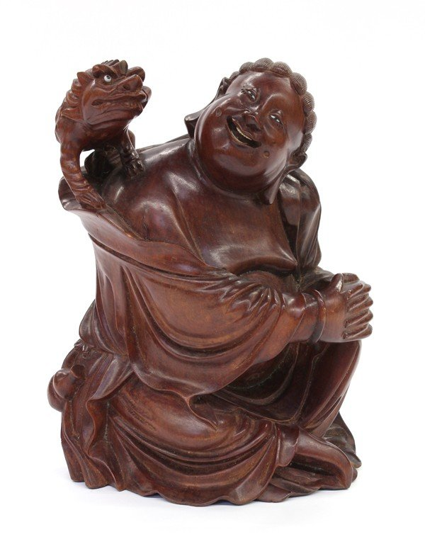 17: Chinese Wooden Figure, Liu Hai