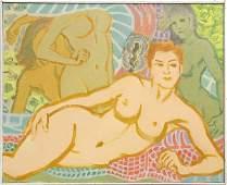 Painting, Tokuichi Arita, Bathing Beauties