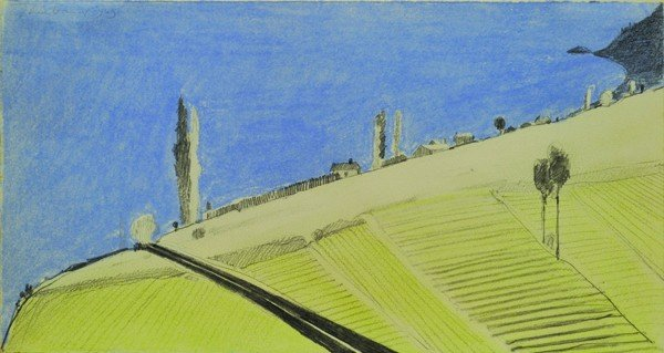 6273: Pastel, Wayne Thiebaud, Landscape