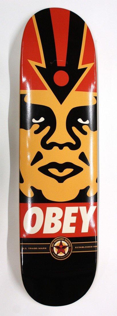 6190: Set of 3, Shepard Fairey ''Obey'' skateboards - 2