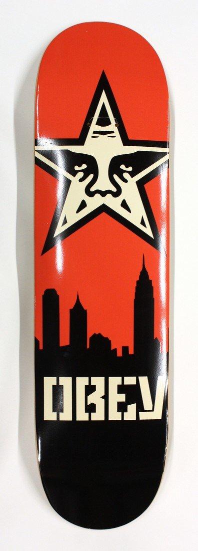 6190: Set of 3, Shepard Fairey ''Obey'' skateboards - 6