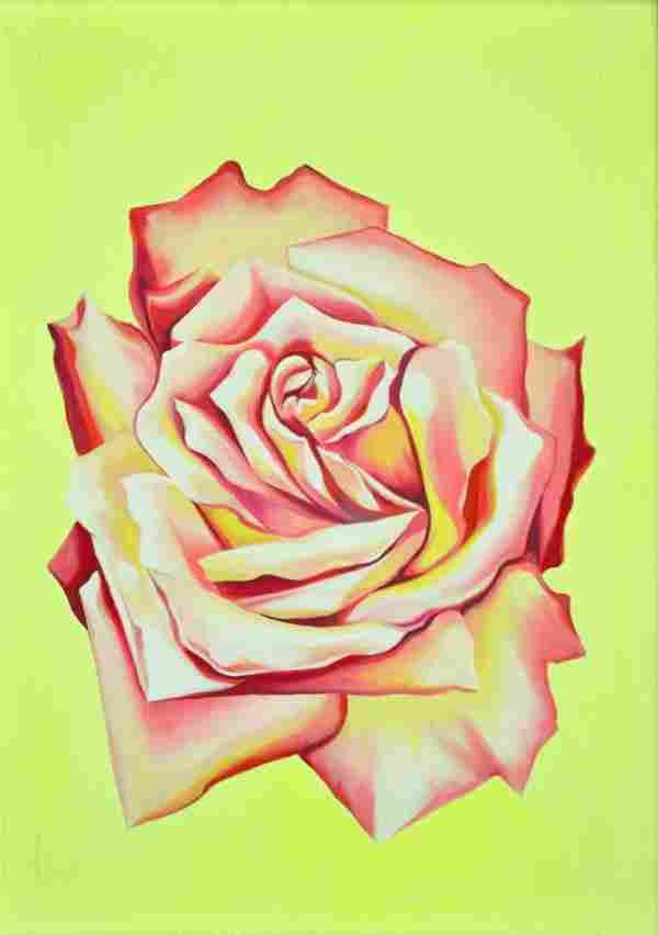 6202: Painting, Lowell Nesbitt, Light Pink Rose