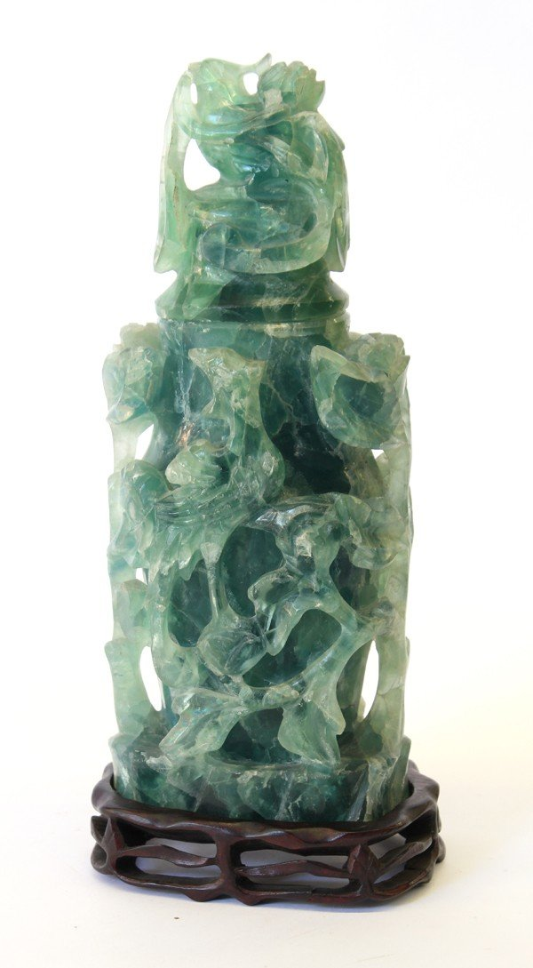 4016: Chinese Fluorite Covered Urn