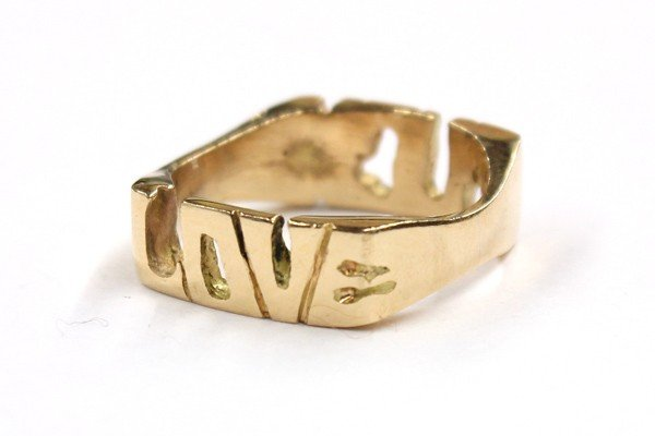 4480: Yellow gold ''Love-Fuck'' band ring