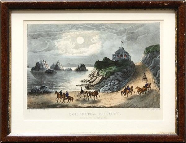 4652: Lithograph, Currier and Ives, Point Lobos
