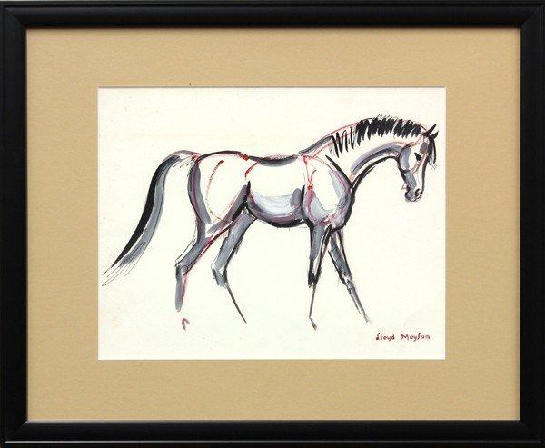 4686: Watercolors, Lloyd Moylan, Horse Studies