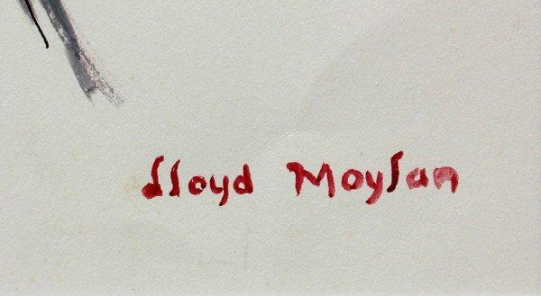 4686: Watercolors, Lloyd Moylan, Horse Studies - 2