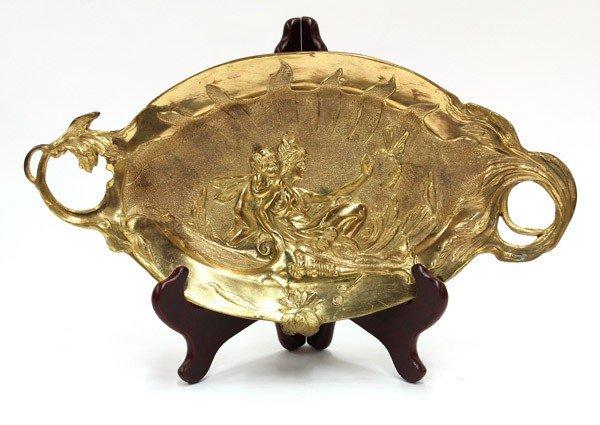 2003: Bronze Art Nouveau tray