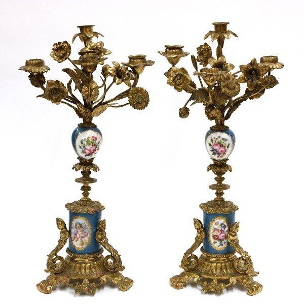 2008: Continental porcelain candelabra