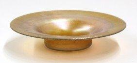 2010: Tiffany Studios gold favrile bowl