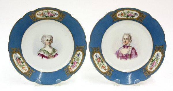 2020: Sevres Chateau des Tuileries porcelain plates