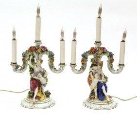 2022: Continental porcelain candelabra