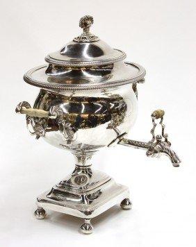 2023: English silverplate beverage urn