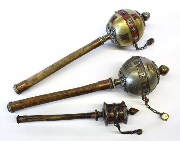 1: Sino-Tibetan and Himalayan Metal Prayer Wheels