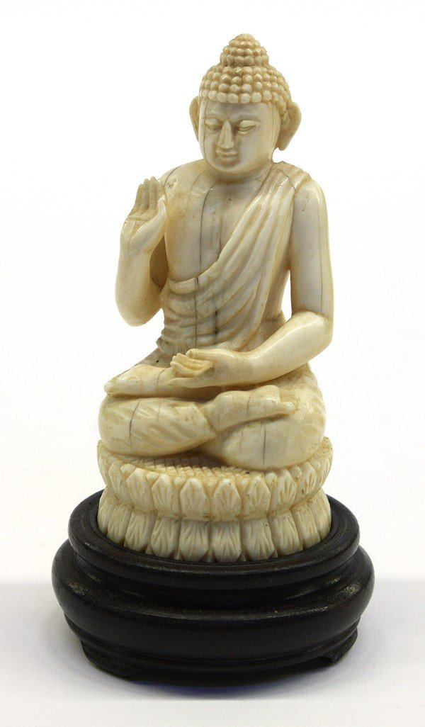 4: Asian Ivory Carving of a Buddha