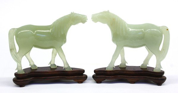 7: Chinese Carved Jade Horses