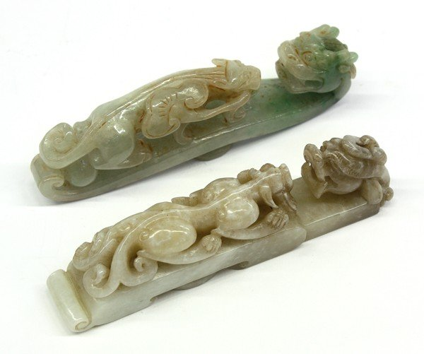 8: Chinese Jade Dragon Form Belt Hooks