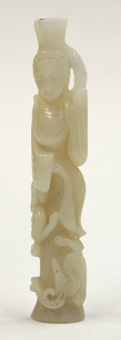 11: Chinese Jade/Hardstone Carving of a Beauty