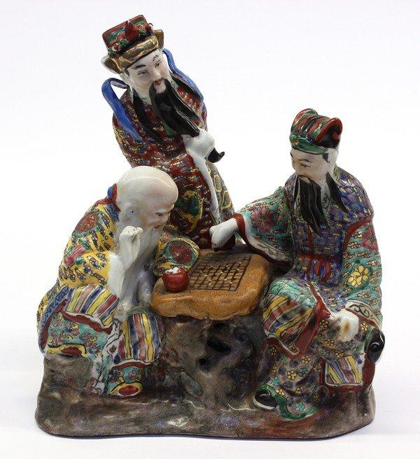 18: Chinese Enameled Porcelain Figural Group