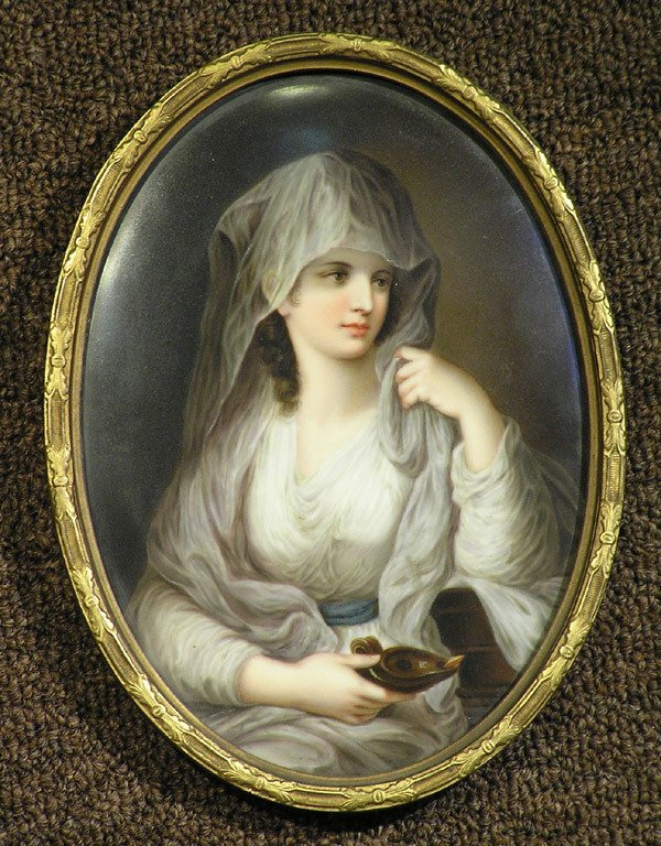 6013: Porcelain Plaque of Vestal Virgin