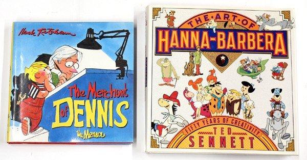 6186: Dennis the Menace & Hanna-Barbera signed books