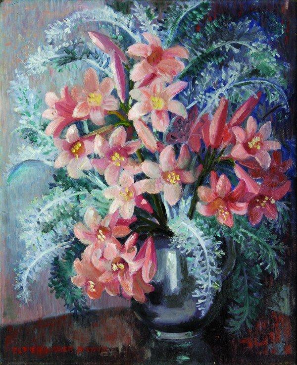 6253: Painting, Elsie Palmer Payne, Amaryllis