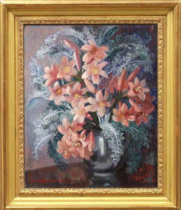 6253: Painting, Elsie Palmer Payne, Amaryllis - 2