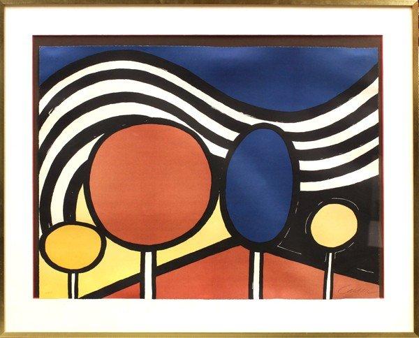 6302: Lithograph, Alexander Calder, Lollipops